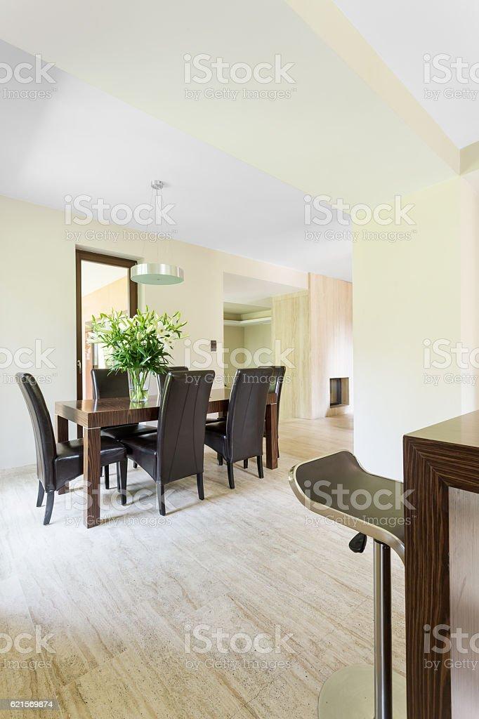 Eleagnt dinning room Lizenzfreies stock-foto