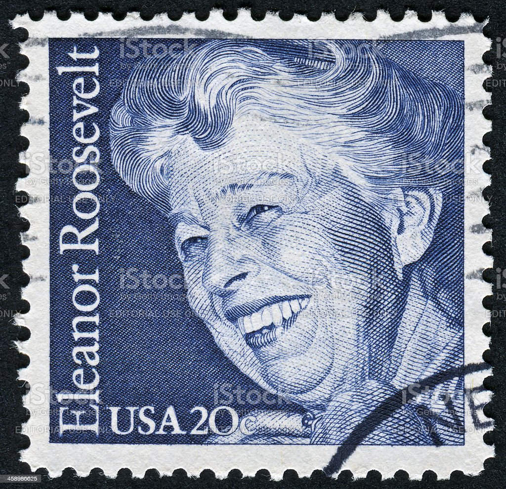 Eleanor Roosevelt Stamp stock photo