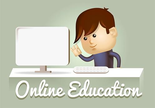 istock e-learning concept. 2d illustration 1009017368