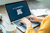istock e-learning concept. Online classes. 1140691163