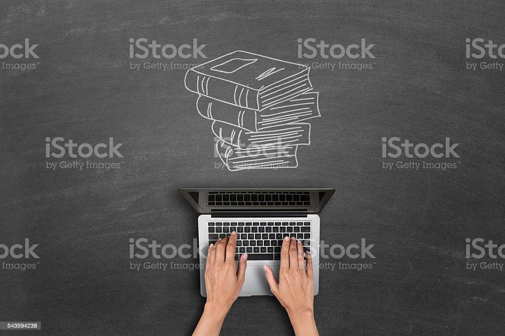 E-learning concetto - foto stock