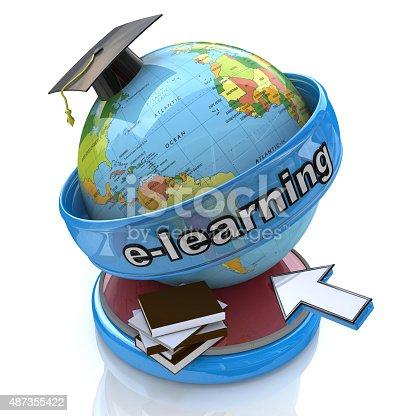 454351815 istock photo E-learning education. Conceptual image 487355422