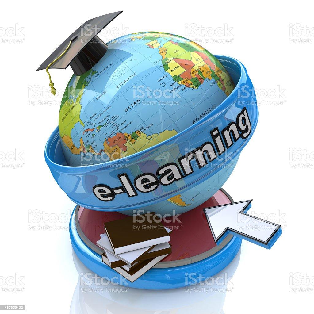 E-learning education. Conceptual image stock photo