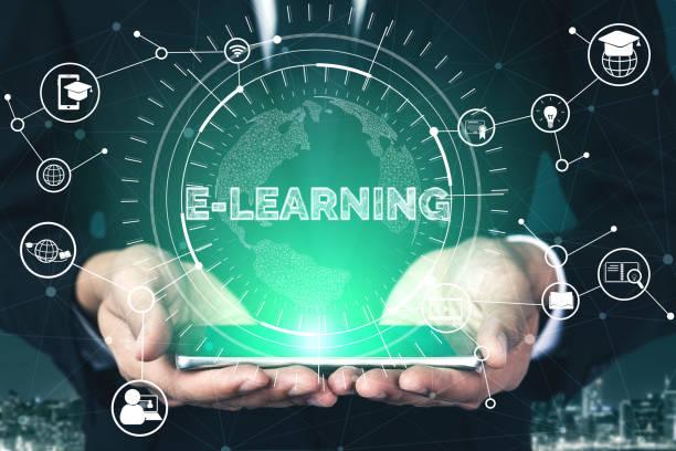 e-learning voor studenten-en universiteits concept - e learning stockfoto's en -beelden