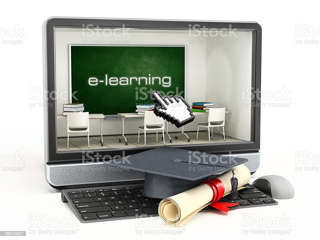 E-learning royalty-free stock photo