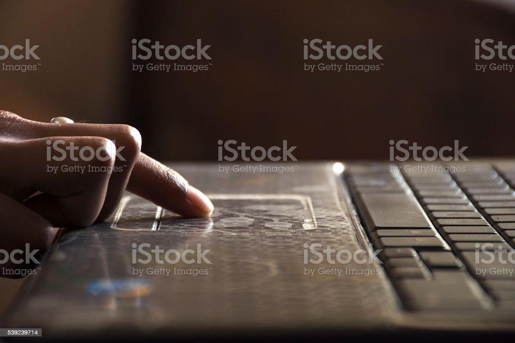 e-learning using laptop royalty-free stock photo