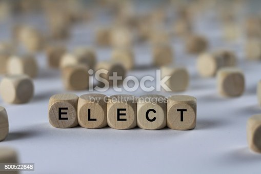 series of images: cube with letters, sign with wooden cubes