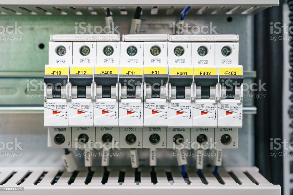 Electical Distribution Fuseboard Electrical Supplies Electrical Panel At A  Assembly Line Factory Controls And Switches Electricity Distribution Box  Fusebox Stock Photo - Download Image Now - iStockiStock