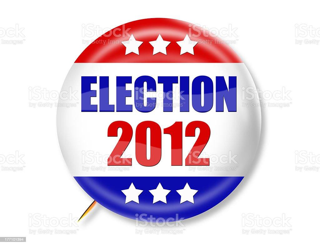 Election 2012 3-D Button stock photo