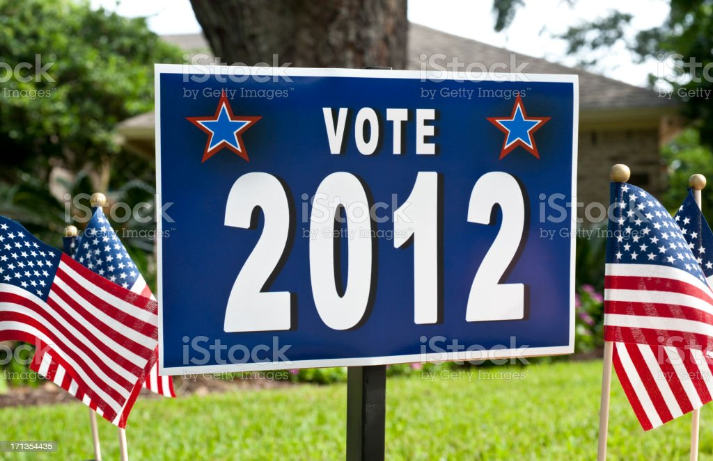 Election 2012 Sign stock photo