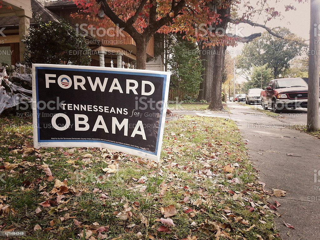 US Election 2012, Tennesseans for Obama stock photo