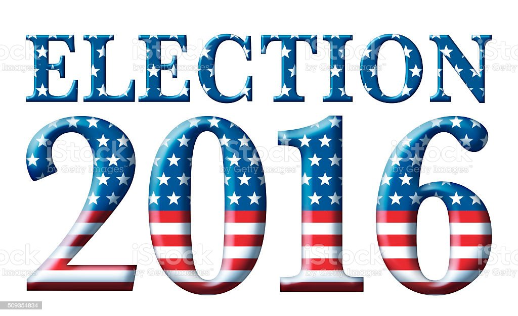 Election 2016 Stars and Stripes stock photo