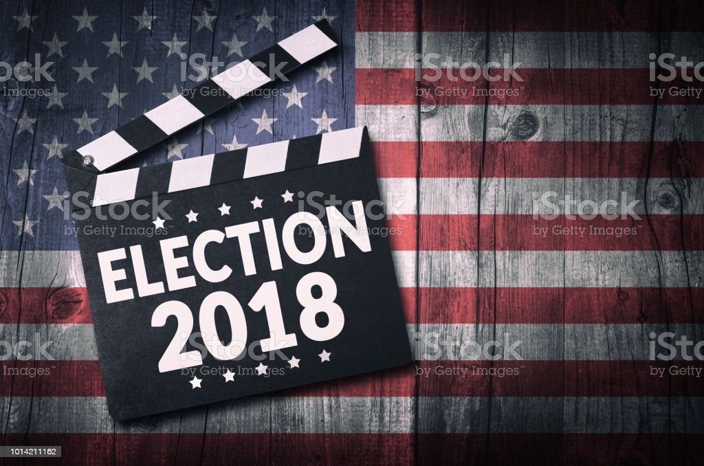 Election 2018 stock photo