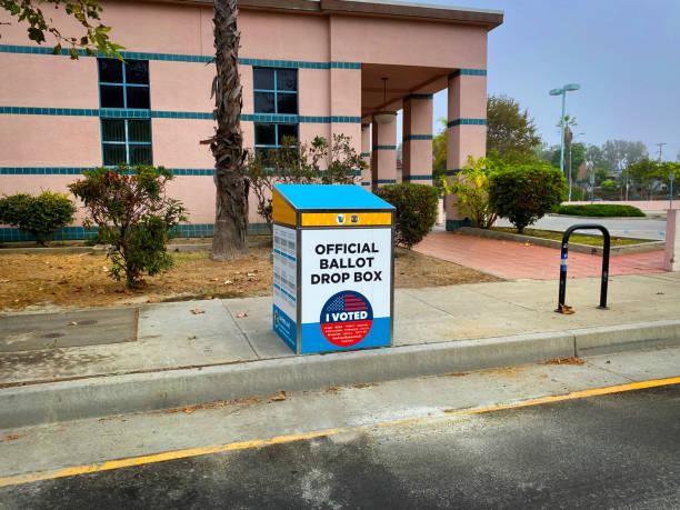 election 2020 ballot drop box - biden стоковые фото и изображения