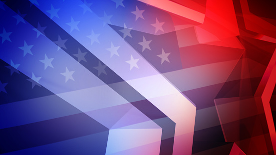 High Detail American election background