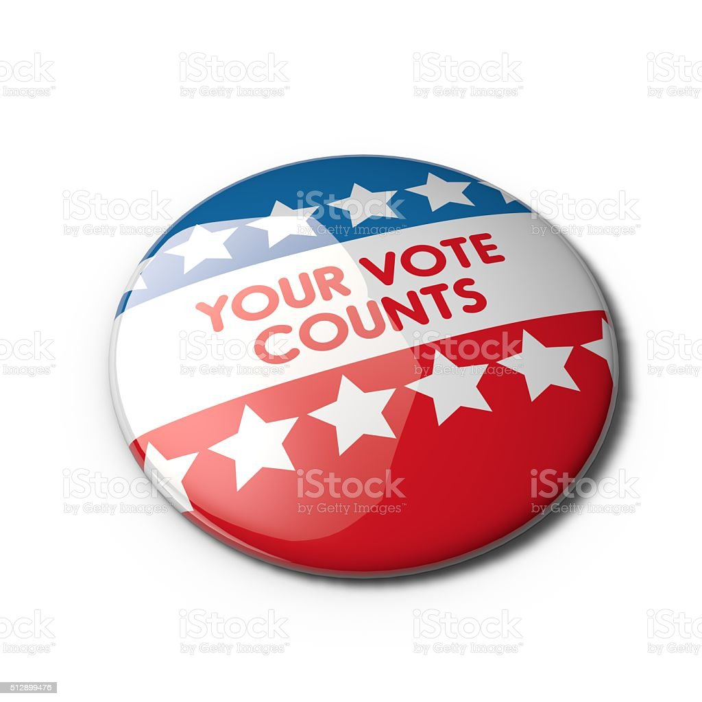 USA election badge stock photo