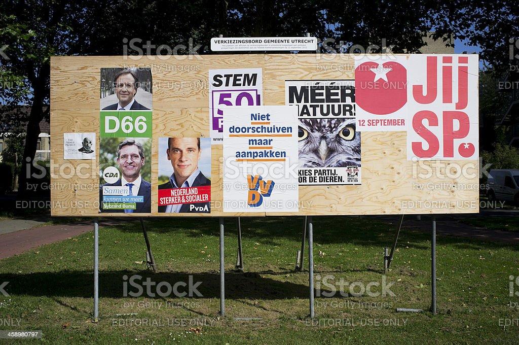 Election board 2012 stock photo