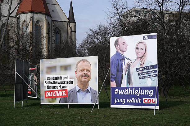 wahlkampf poster - la union stock-fotos und bilder