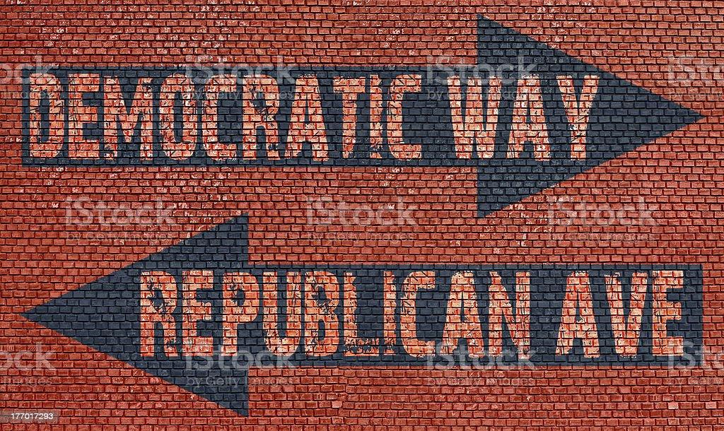 Election choice conceptual stock photo