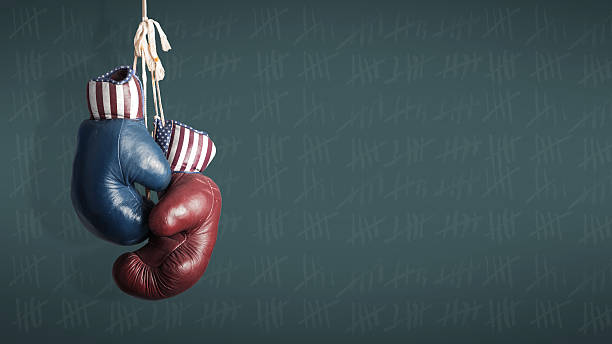 wahltag 2014 – republikaner, der demokraten in der kampagne - wahlen in usa stock-fotos und bilder