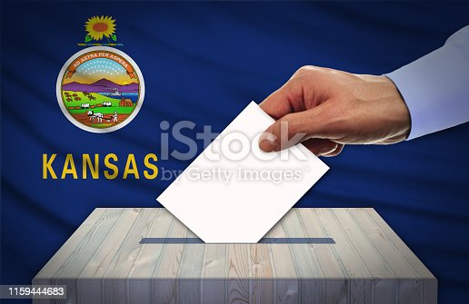 istock Election Day in the United States of America, KANSAS - USA 1159444683
