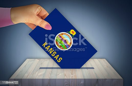istock Election Day in the United States of America, KANSAS - USA 1159444722