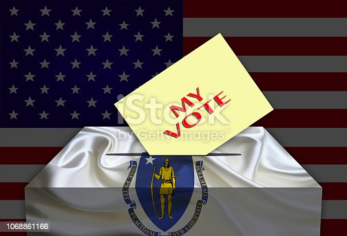 1001757106 istock photo Election Day in the United States of America, MASSACHUSETTS 1068861166