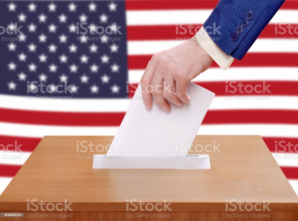 Election Day in the United States of America. stock photo