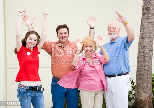 1001754954 istock photo Election - Enthusiastic Voters 116832023