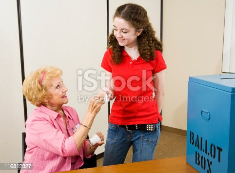 1001754954 istock photo Election - First Time Voting 116812327