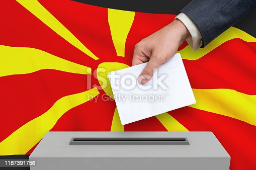 935056316 istock photo Election in Macedonia - voting at the ballot box 1187391756