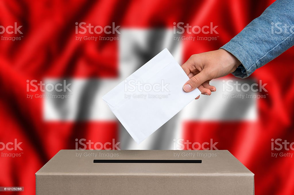 Election in Switzerland - voting at the ballot box – Foto