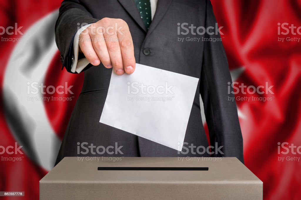 Election in Turkey - voting at the ballot box stock photo
