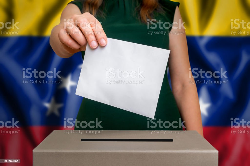 Election in Venezuela - voting at the ballot box stock photo