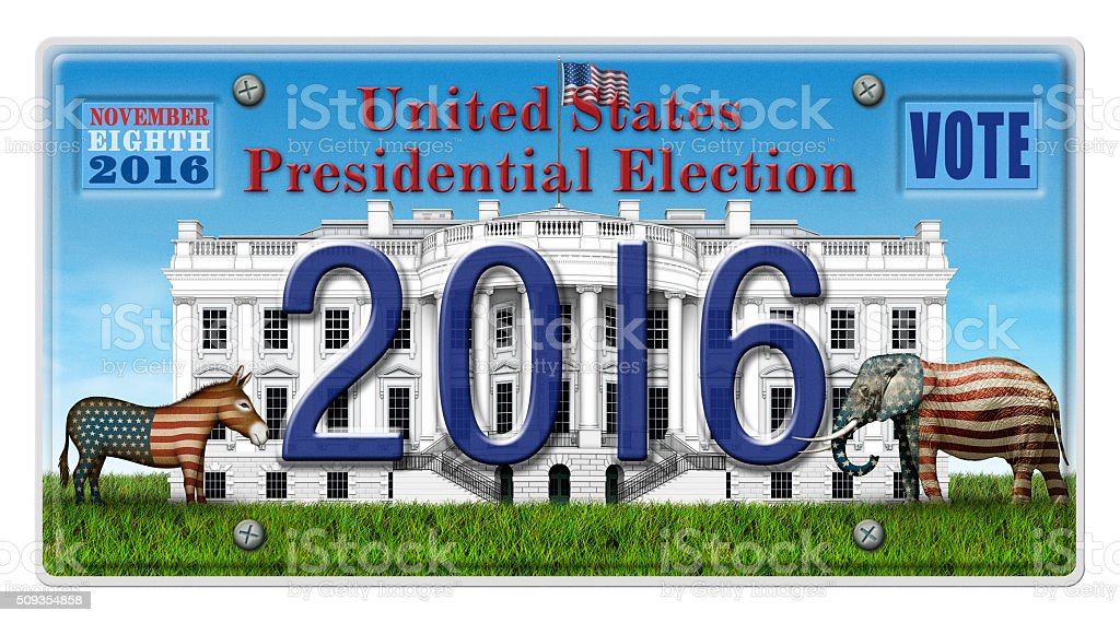 2016 Election License Plate stock photo
