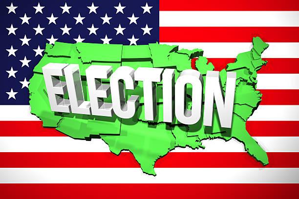 USA Election Map stock photo