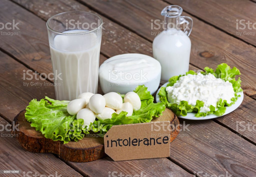 election of non-dairy milk alternatives in different bottles. intolerance milk. healthy lifestyle concept stock photo