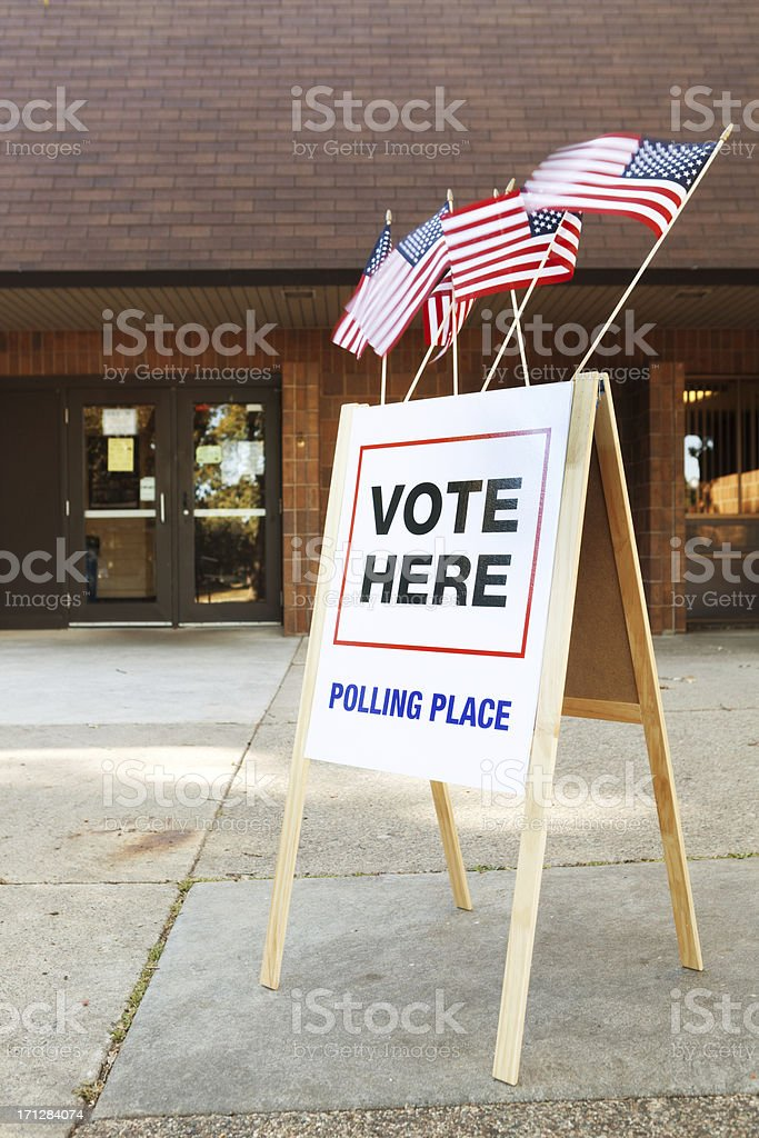 USA Election Polling Place Station royalty-free stock photo