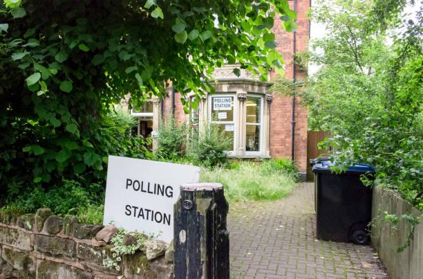 UK Election Polling station stock photo