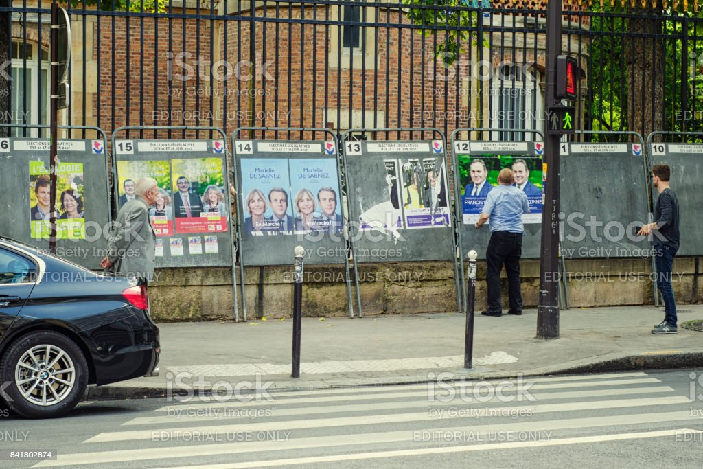 Election poster of French lawyer Francis Szpiner stock photo