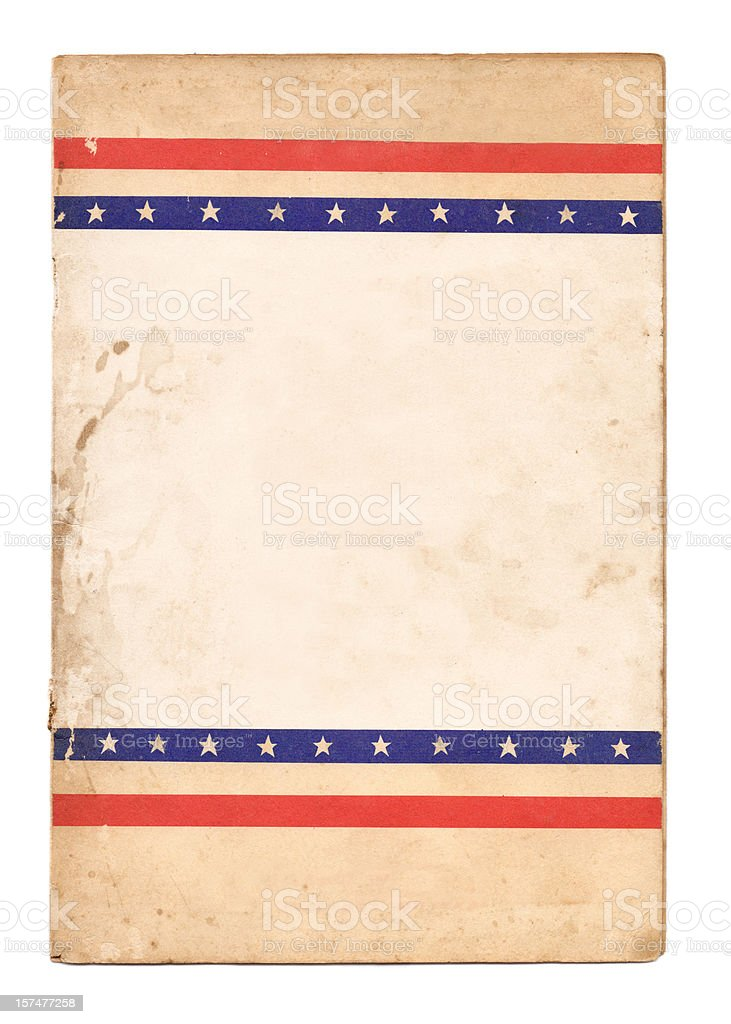 Election poster with stars and stripes royalty-free stock photo