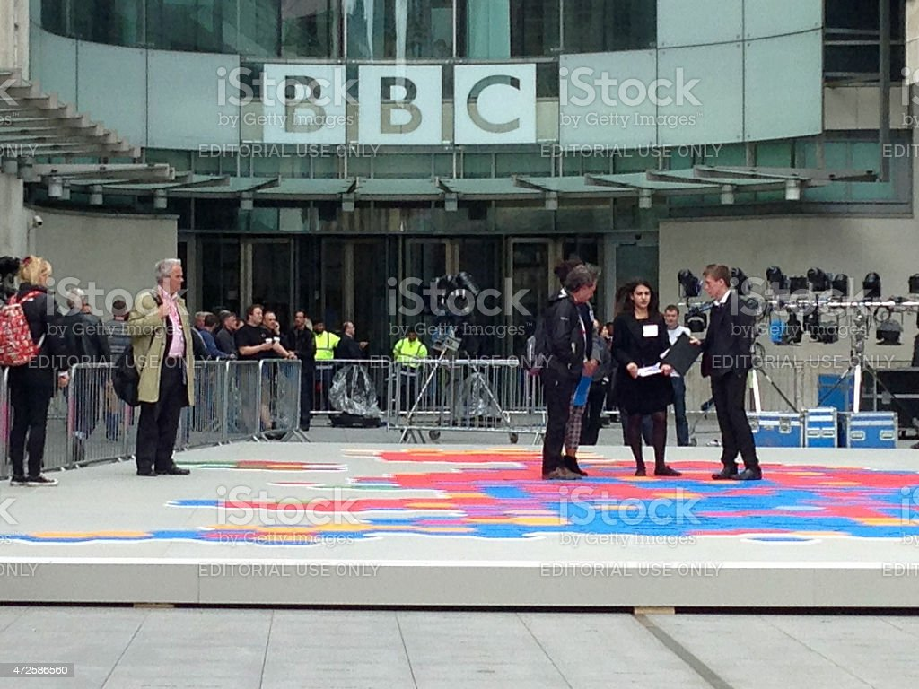 BBC Election Producers preparing stock photo