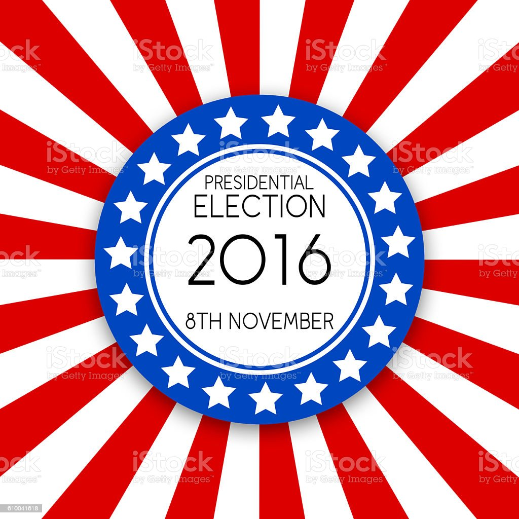 USA election sunburst background stock photo
