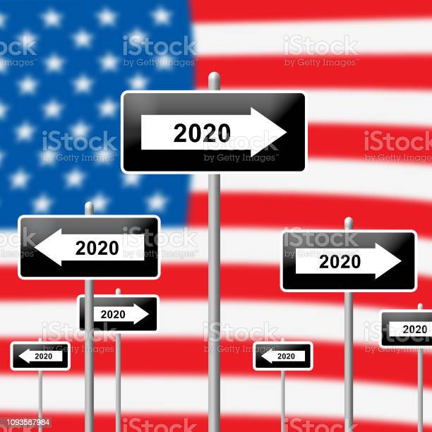2020 Election Us Presidential Vote For Candidates - 3d Illustration