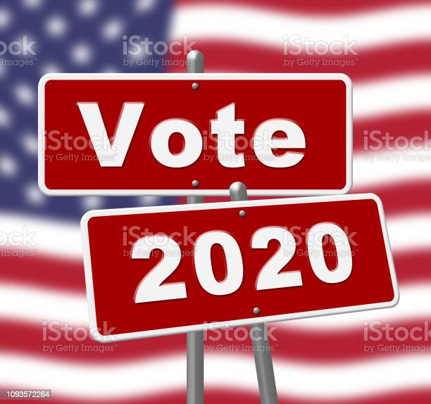 2020 Election Usa Presidential Vote For Candidate - 2d Illustration