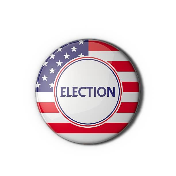 сша выборы голосования эмблема - кандидат на пост президента стоковые фото и изображения