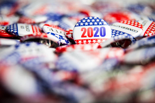 Election Vote Buttons 2020 stock photo