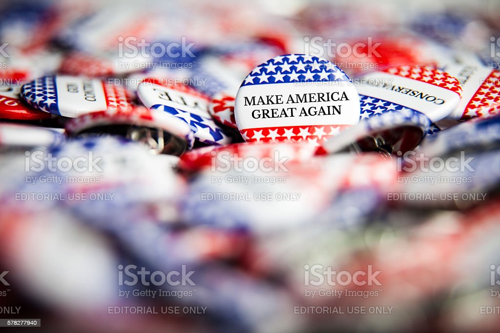 Election Vote Buttons - Make America Great Again stock photo