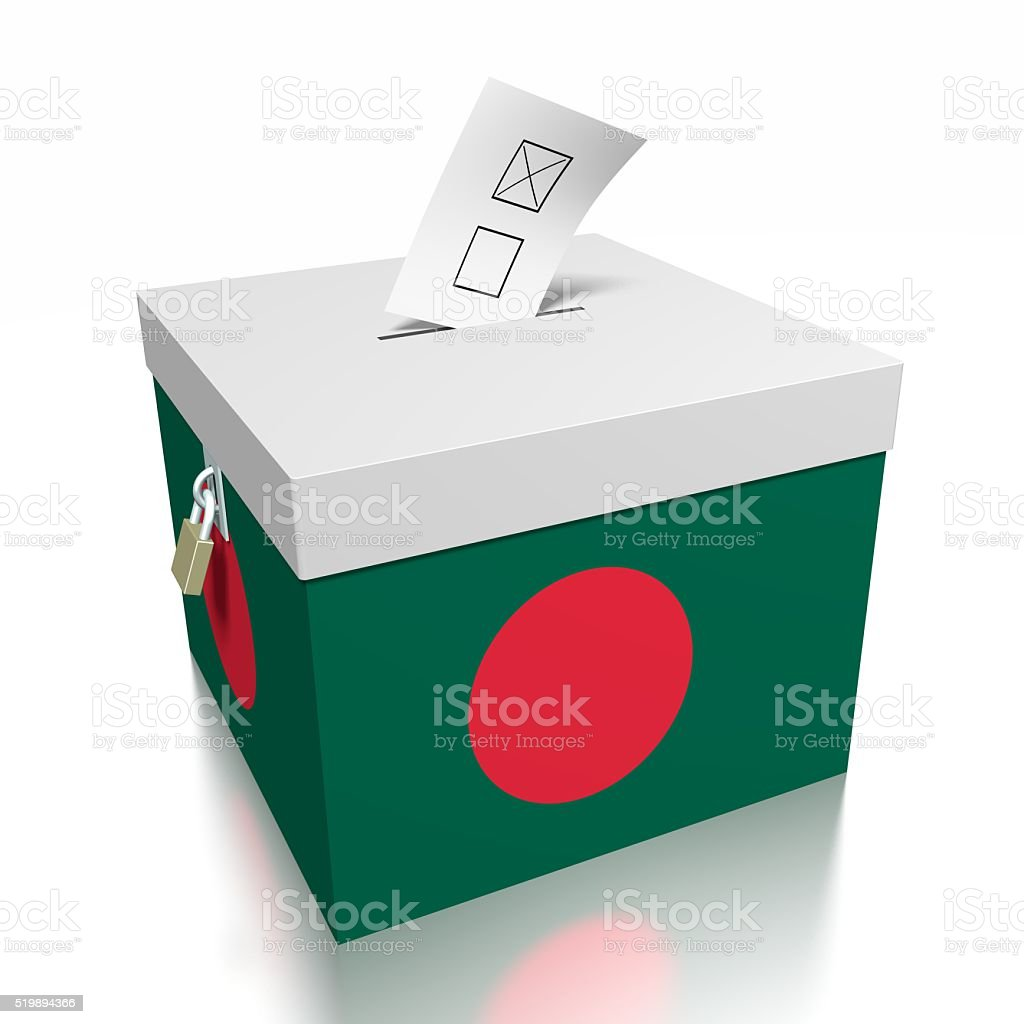 Elección/votar en Bangladesh - foto de stock