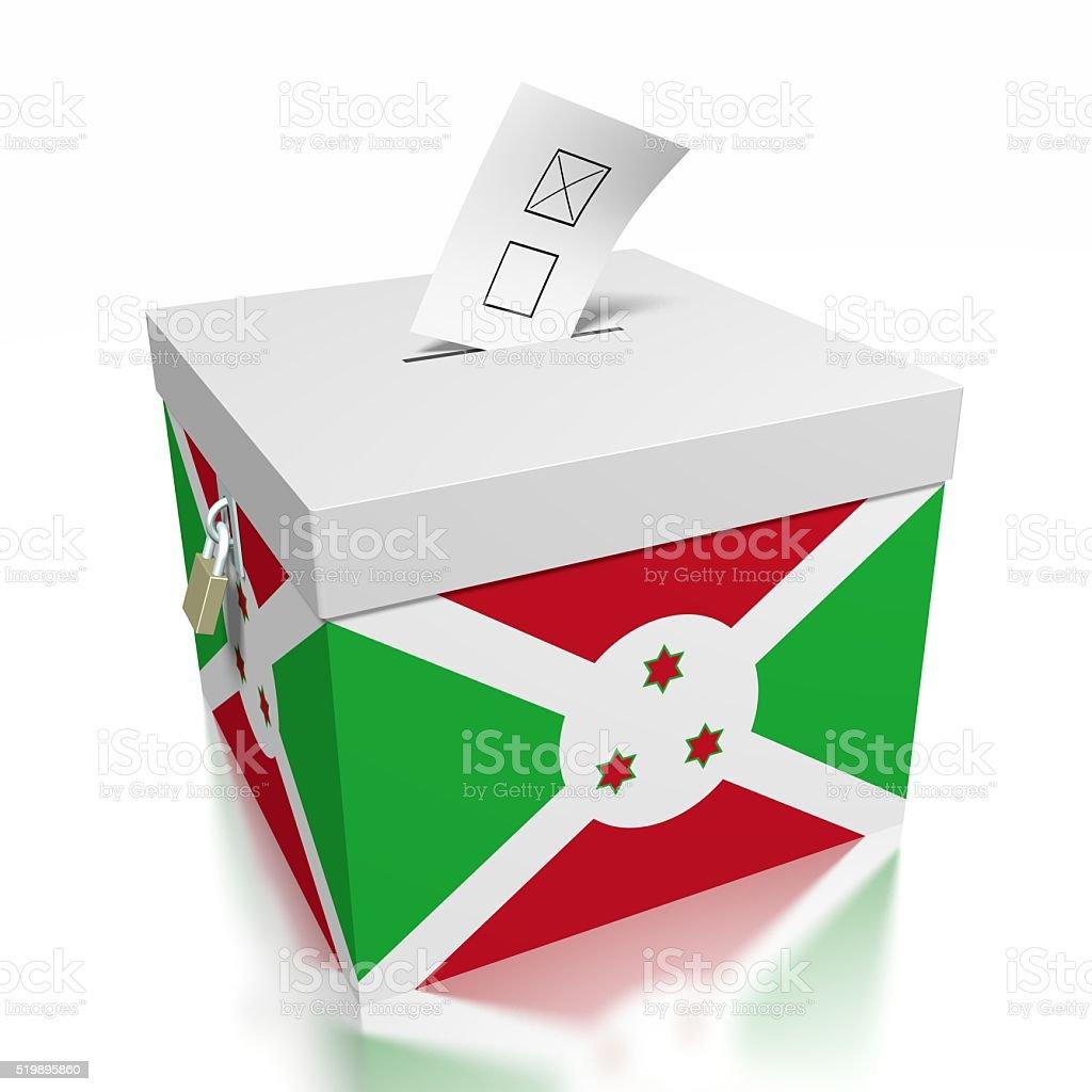 Election/ voting in Burundi stock photo